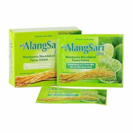 Alangsari Plus Jeruk Nipis SidoMuncul - Mengandung ekstrak alang-alang, cincau hijau, jeruk nipis dan vitamin C