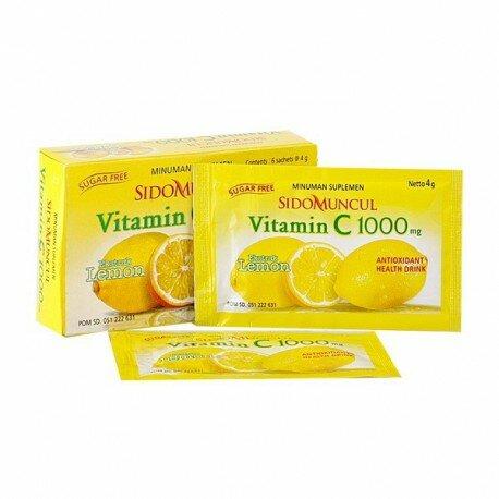 SidoMuncul vitamin C 1000 mg SidoMuncul - Antioksidan, membuat awet muda, menjaga daya tahan tubuh , menghaluskan kulit