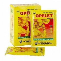 Jamu Opelet Ginseng SidoMuncul - Mengobati pegal dan linu, melancarkan peredaran darah , membuat enak tidur