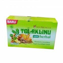 Tolak Linu Mint Herbal SidoMuncul - Membantu Pegal Linu & Nyeri Sendi (kaki, lutut, bahu, tangan & tulang) Jual dg Harga Murah