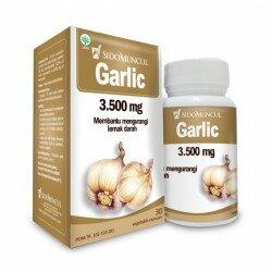 Garlic SidoMuncul - Membantu menurunkan kolesterol dan lemak darah. Meningkatkan daya tahan tubuh. Di jual harga lebih murah