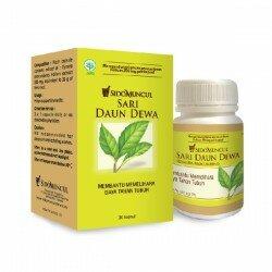 Ekstrak Sari Daun Dewa SidoMuncul - di jual harga murah, mengandung enzim asparaginas yang berkhasiat bagi kesehatan