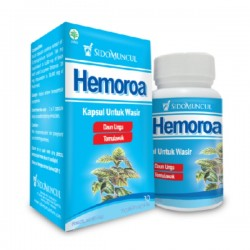 Hemoroa SidoMuncul - Membantu mengurangi sakit pada wasir, hemoroid, mempermudah bab, menghindari sembelit. Di jual harga murah